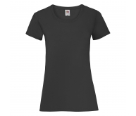 Camiseta manga corta de mujer LADIES VALUEWEIGHT T negro