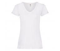 Camiseta manga corta de mujer LADIES VALUEWEIGHT V-NECK T blanco